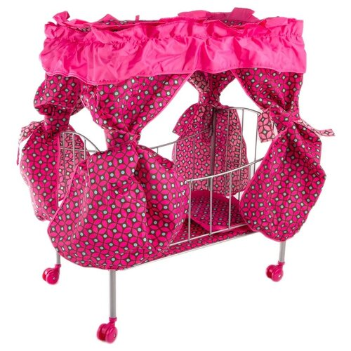 Buggy Boom Кроватка с балдахином Loona темно-розовый с узором
