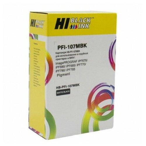 Фото - Картридж Hi-Black (PFI-107MBK) для Canon iPF680/685/780/785, MBK картридж canon pfi 107 c для ipf680 685 780 785 голубой 6706b001