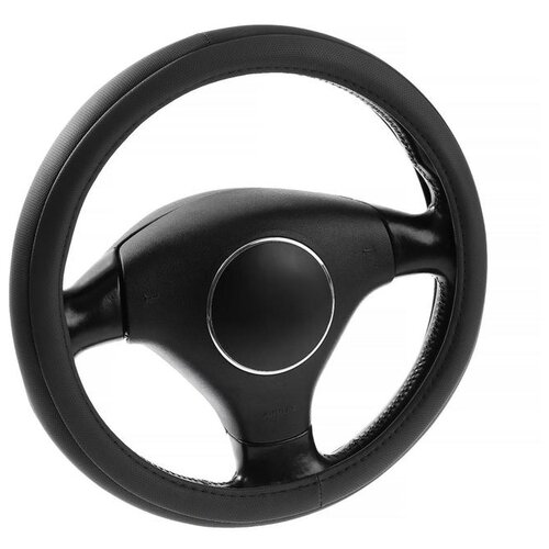 Оплётка на руль Lavita, размер М, черная, ПВХ 2691576