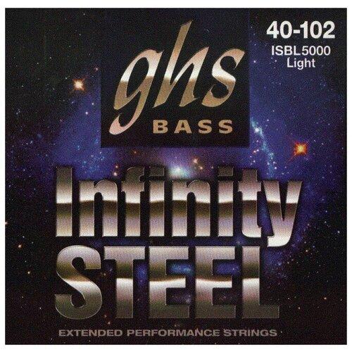 Струны 4-струнной для бас-гитары GHS ISB L5000 басс 4 стр. 40-102 Infinity Steel