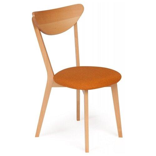Стул обеденный TETCHAIR MAXI (Макси)мягкое сиденье/ цвет сиденья - оранжевый, натуральный ( бук ) 2шт/уп