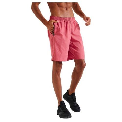 Шорты тренировочные для фитнеса с карманами на молнии розовые однотонные L RU48-50 DOMYOS Х Декатлон