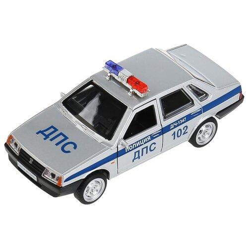 Машинка ТЕХНОПАРК LADA-21099 Спутник Полиция (21099-12SLPOL), 12 см, серебристый