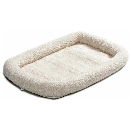 Midwest Pet Bed Лежанка флисовая белая 53х30 см midwest midwest лежанка double bolster флисовая с двойным бортом 53х30 см белая