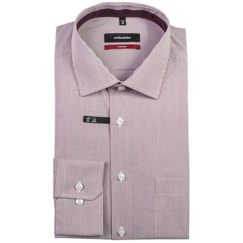 Рубашка Seidensticker размер 41 белый/бордовый
