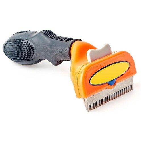 Приспособление для вычесывания кошек и собак (Фурминатор), оранжевый