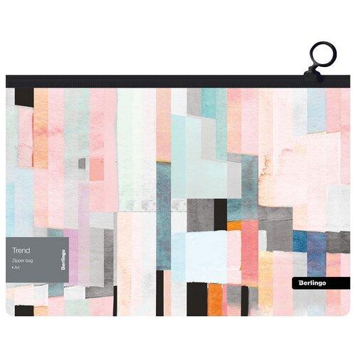 Купить Berlingo Папка-конверт Trend А4, на молнии, пластик, 12 штук, Файлы и папки
