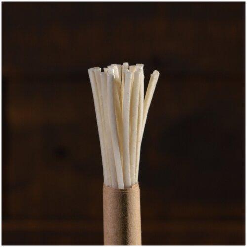 Фитиль 3*12 вощёный для насыпных свечей 10см 10штдля свечей d7см