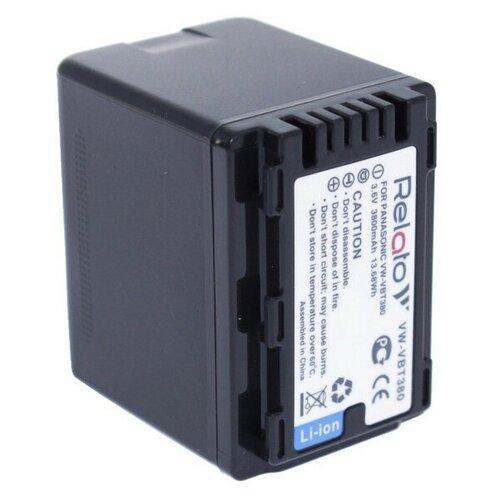 Фото - Аккумулятор Relato VW-VBT380 (схожий с Panasonic VW-VBT380) аккумулятор ibatt ib b1 f457 3400mah для panasonic vw vbt190 vw vbt380 vw vby100 vw vbt380e k