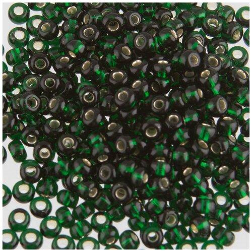 Купить Бисер круглый PRECIOSA 6, 10/0, 2, 3 мм, 500 г, (Ф197), темно-зеленый, Фурнитура для украшений