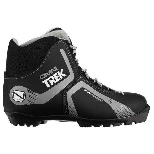 Trek Ботинки лыжные TREK Omni 4 NNN, цвет чёрный, лого серый, размер 36