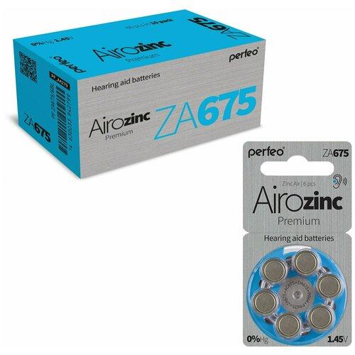 Батарейки Perfeo ZA675/6BL Airozinc Premium, 60 шт батарейка perfeo za675 6 шт