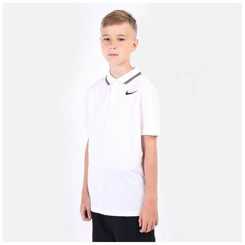 Фото - Поло NIKE размер M(137-147), белый nike толстовка для мальчиков nike sportswear размер 137 147