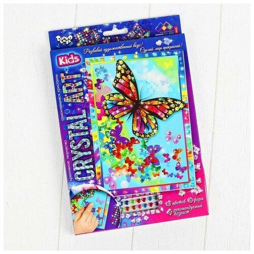Danko Toys Набор креативного творчества «Самоклеящиеся кристаллы. Бабочка» серии «Crystal Art»