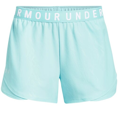 Шорты Under Armour Play Up 3.0 Emboss, размер MD, breeze/white
