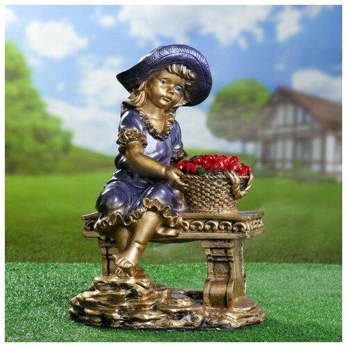 Фигура Девушка на скамье бронза 21х28х44см фигура девушка на коленях золото 10х6х15см 3928137