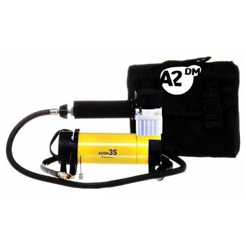Компрессор A2DM 35, 12В/16А, 10Атм, 180Вт, 35л/мин, съемный шланг 0.9м, от прикуривателя, переходники 3шт, сумка
