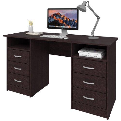 Фото - Письменный стол СитиМебель Хит-12, ШхГ: 140х50 см, цвет: венге цаво письменный стол ситимебель компактный шхг 140х50 см цвет венге цаво