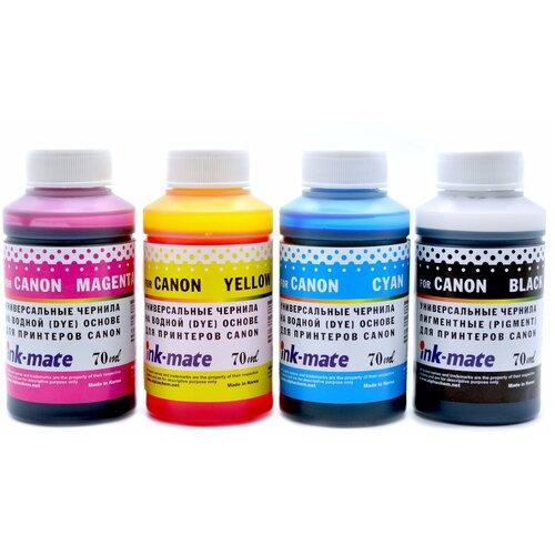 Фото - Чернила для принтера Canon PIXMA PG-445/CL-446 Pigment/Dye, 4 цвета, совместимые чернила краска для заправки принтера canon pixma g1410 набор черный 100