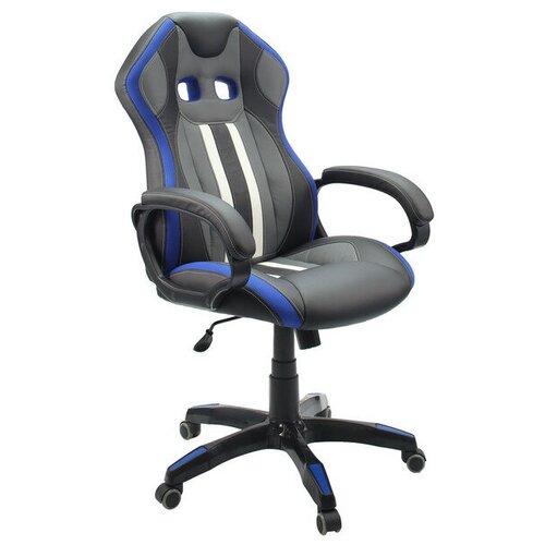 Кресло игровое ГЕЛЕОС Мустанг синее