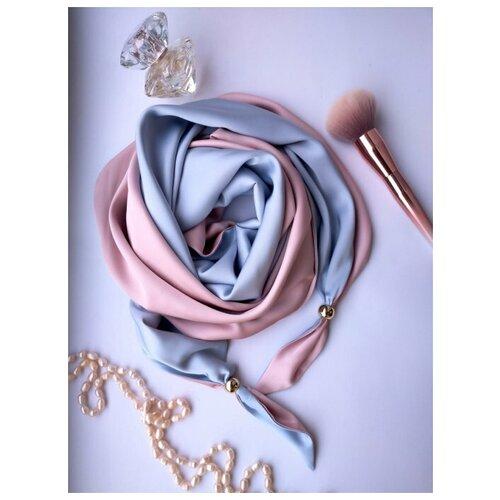 Палантин, Sergio Valentini, Французская косынка, цвет: Пыльная роза, голубой, 60 х 170 см