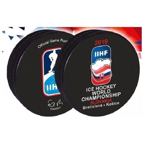 Шайба хоккейная Gufex (Чемп. Мира Словакия 2019 цв. двустор. офиц.) (размер Стандартный)