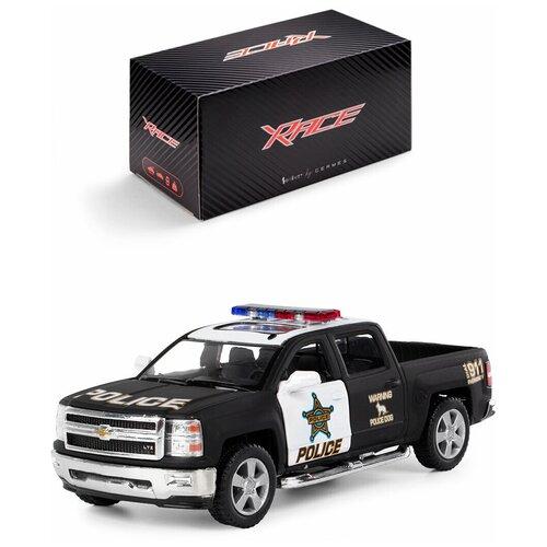 Купить Детская инерционная металлическая машинка Serinity Toys с открывающимися дверями, модель Chevrolet Silverado (Police), Машинки и техника