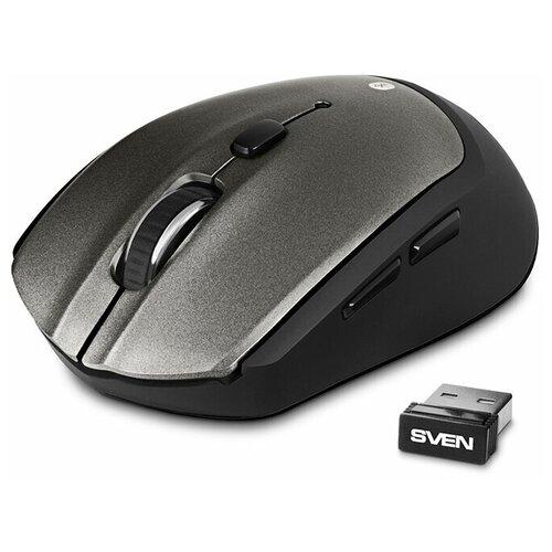 Мышь беспроводная SVEN RX-585SW сер. (бесш. кл., Bluetooth, 2,4GHz, 5+1кл., ST, 800-1600DPI)