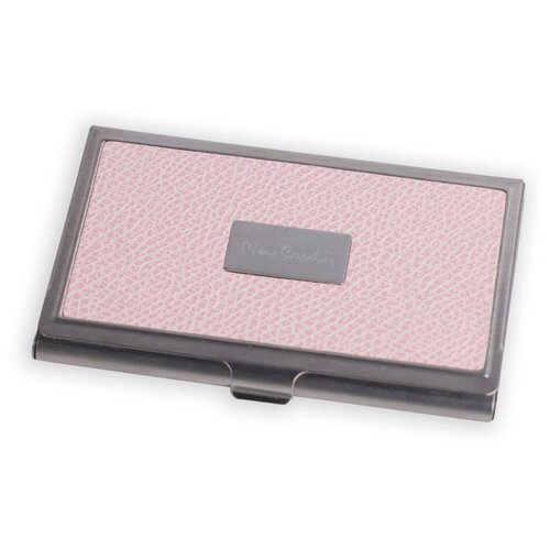 Визитница Pierre Cardin. Корпус - металл, иск.кожа. Размер 9,3 х 6,0 х 0,8 см. Цвет - розовый. визитница pierre cardin pc1139 бежевый
