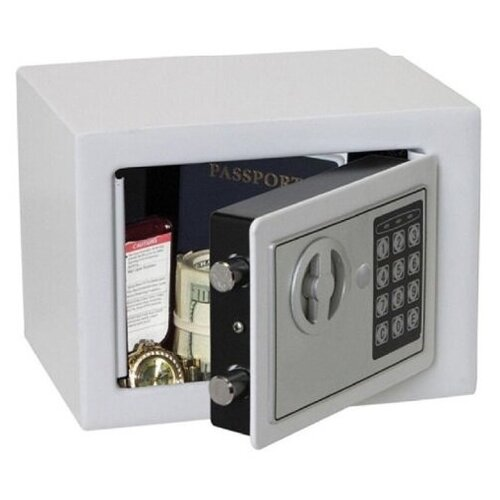 Сейф с электронным кодовым замком SAFEBURG SB-170 white для денег и документов, для дома/квартиры/офиса/в шкаф