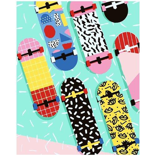 Картина по номерам Скейтборд Арт, 40 х 50 см, Красиво Красим, Картины по номерам и контурам  - купить со скидкой