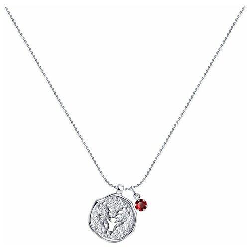 SOKOLOV Колье из серебра с кристаллом Swarovski 94070397, 40 см, 5.51 г