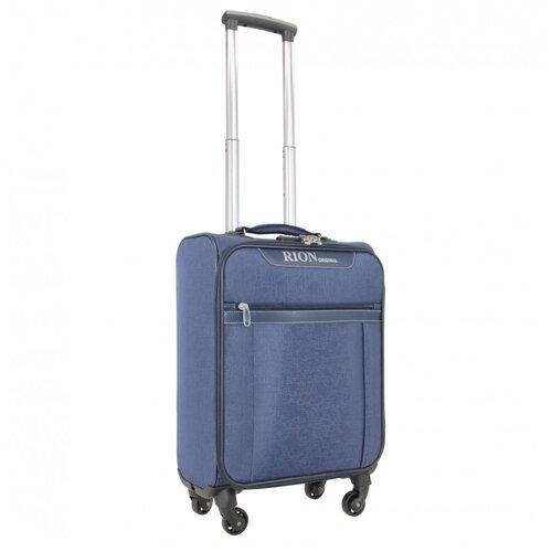 Чемодан текстильный Rion+, 441 голубой 18 чемодан rion 418 3 62 л голубой
