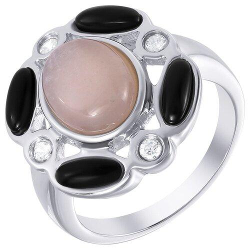 Фото - ELEMENT47 Кольцо из серебра 925 пробы с лунным камнем (адулярами), фианитами и ониксом SR1562-moon-stone-KO-LK-OX-WG, размер 17.5 element47 кольцо из серебра 925 пробы с лунным камнем адулярами 11b 1516 ko lk wg размер 17 5
