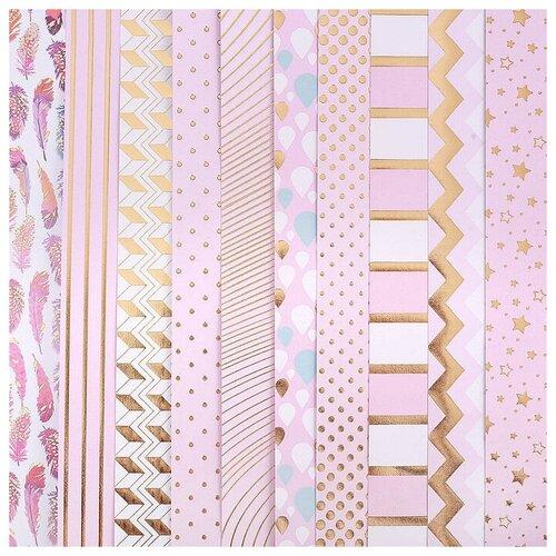 Купить Бумага Арт Узор 30.5x30.5 см, 10 листов, Розовые облака золотистый/розовый, Бумага и наборы