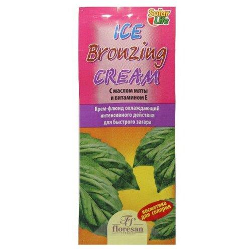 Крем для загара в солярии Floresan Ice Bronzing Cream охлаждающий для быстрого загара 15 мл крем для загара в солярии supertan lemongrass and orange с антицеллюлитным действием 15 мл