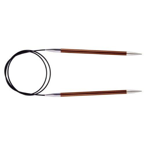 Спицы Knit Pro круговые Zing 47192, диаметр 5.5 мм, длина 120 см, сиена  - купить со скидкой