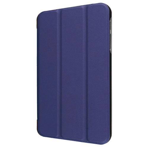 Чехол-обложка MyPads для Samsung Galaxy Tab S5e 10.5 SM-T720 (2019) тонкий умный кожаный на пластиковой основе с трансформацией в подставку синий