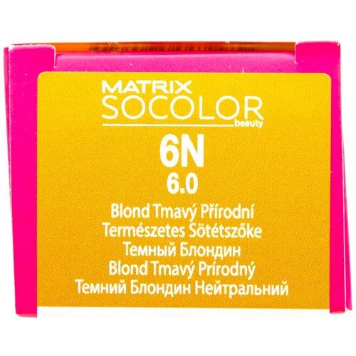 Купить Matrix Socolor Beauty стойкая крем-краска для волос, 6N темный блондин, 90 мл