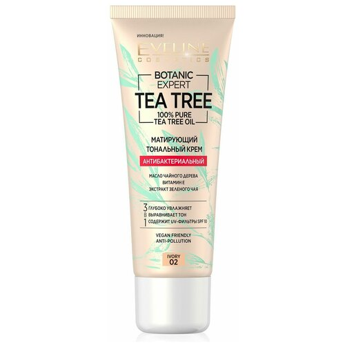 Купить Eveline Cosmetics Тональный крем Botanic Expert Tea Tree, 30 мл, оттенок: 02 ivory