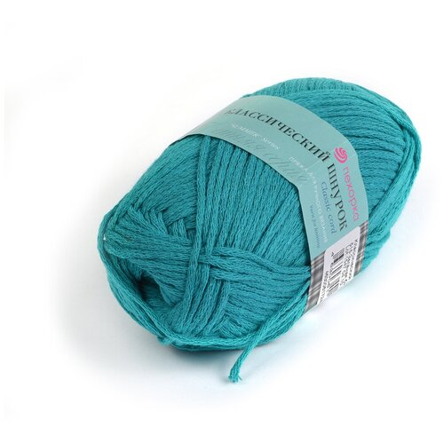 Купить Пряжа для вязания ПЕХ Классический шнурок (60% хлопок, 40% акрил) 5х50г/135м цв.515 зелёная бирюза, Пехорка
