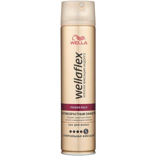 Купить Wella Лак для волос Wellaflex С антивозрастным эффектом суперсильной фиксации, экстрасильная фиксация, 250 мл