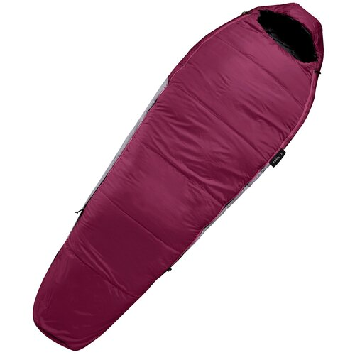 Спальный мешок TREK 500, размер: L, цвет: Темный Шоколадный Трюфель/Серый Графит FORCLAZ Х Декатлон