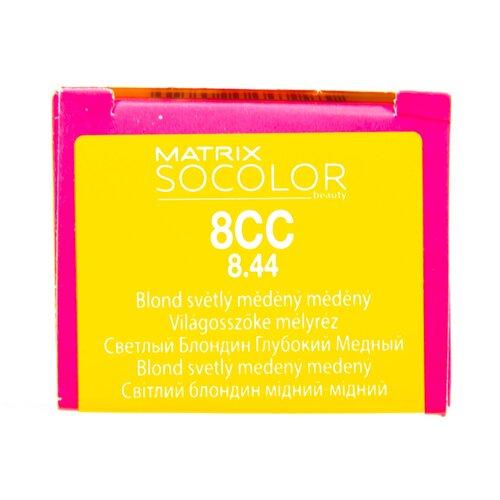 Купить Matrix Socolor Beauty стойкая крем-краска для волос, 8CC светлый блондин глубокий медный, 90 мл