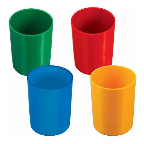 Купить Подставка-органайзер СТАММ (стакан для ручек), 70х70х90 мм, ассорти, 4 цвета, СН01, Канцелярские наборы