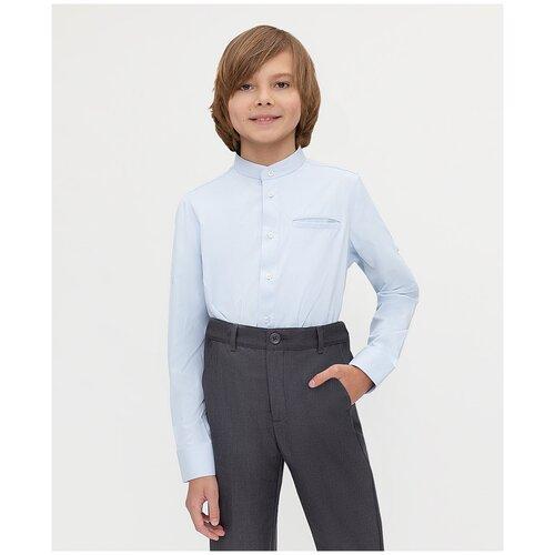 Рубашка Button Blue размер 140, голубой