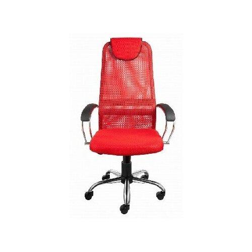Компьютерные кресла алвест Кресло AV 142 CH (142 CH) MK кз TW сетка, сетка однослойная 311/457/474 черная/красн/ярко кра