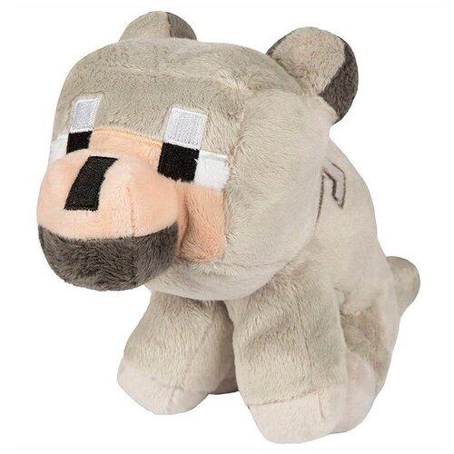 Детская мягкая игрушка ВсеИгрушки / Плюшевый Детеныш Волка Baby Wolf из игры Майнкрафт (Minecraft) для детей, мальчиков и девочек, 23 см
