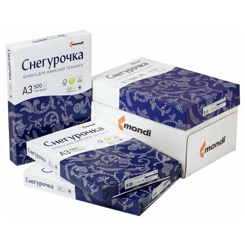 Бумага Снегурочка A4 Снегурочка 80 г/м² 500 лист., 5 пачк., белый