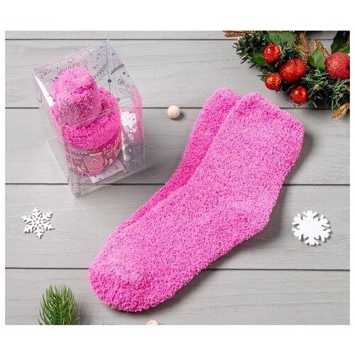 Носки Kaftan Пусть весь мир подождёт 4679391, размер 23-25 см (37-39), розовый